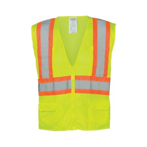 Ironwear® 1287-LZ Class 2 Hi-Vis Lime Mesh Safety Vest