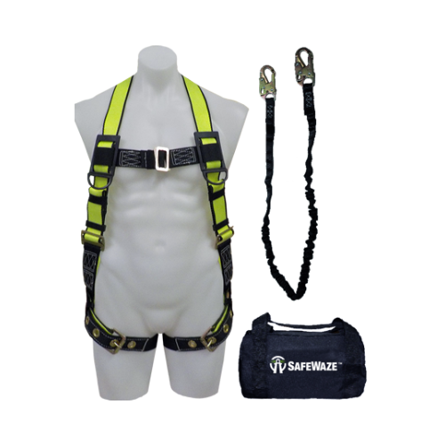SafeWaze® FS133 Pro™ Grommet Leg Harness & Low-Profile Lanyard Fall Protection Kit