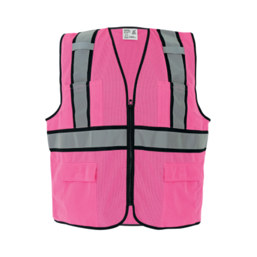 Global Glove® FrogWear® GLO-0066 Non-ANSI Hi-Vis Pink Surveyors Safety Vest