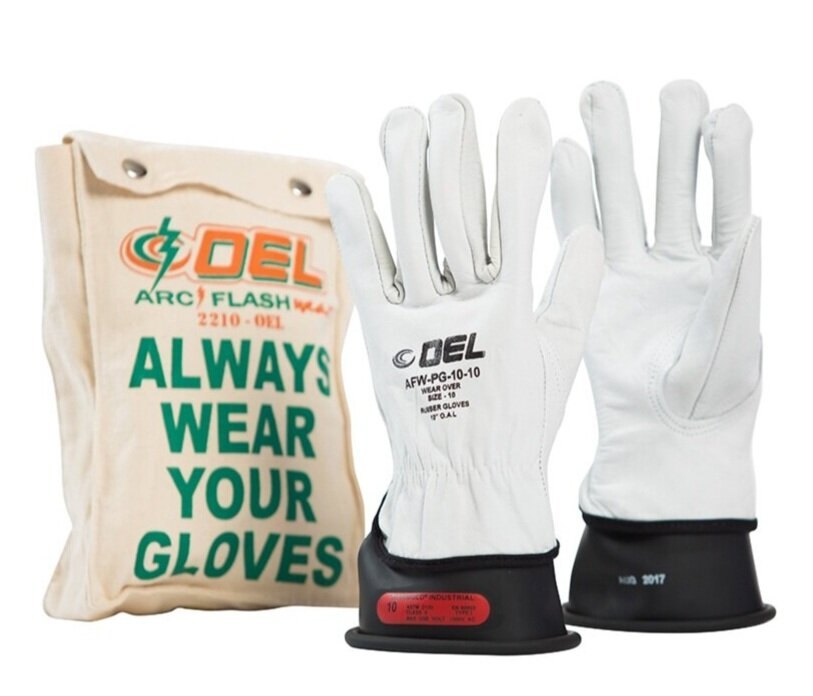 "OEL® IRG0011 Class 00 11"" 500v Rubber Insulated Electrical Glove Kits"