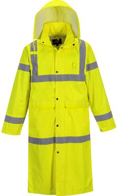 Safety Rain Jacket 48 Hi Vis Waterproof Yellow Classic Rain Coat - 5X-Large