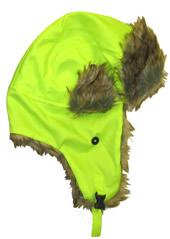 Valcrest HTR06 High Visibility Winter Trooper Hat Hi-Viz Lime